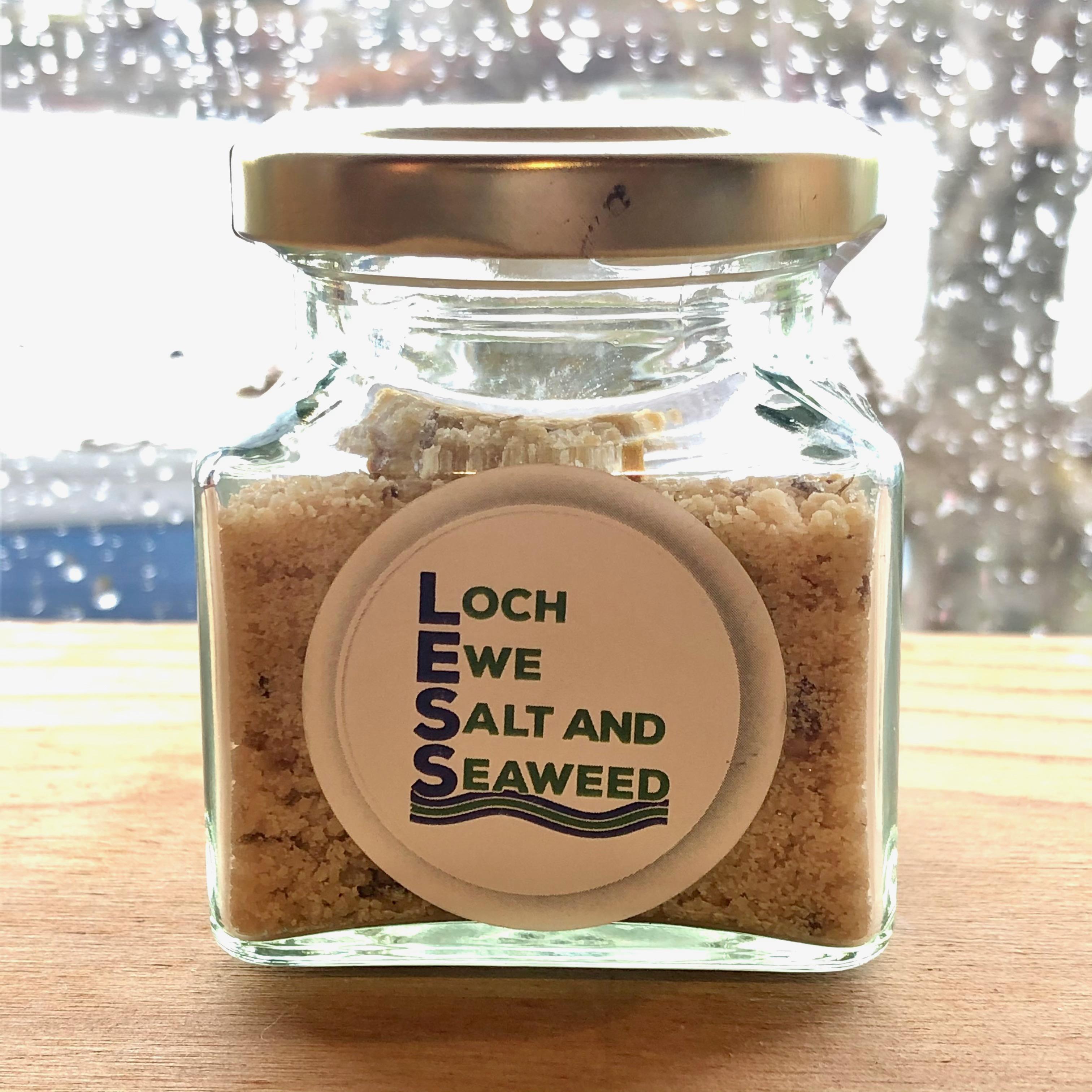 Loch Ewe Sea Salt Jar 75g: Lemon Sea Salt
