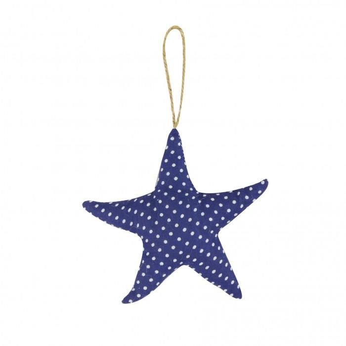 Fabric Dotty Starfish 11cm Blue