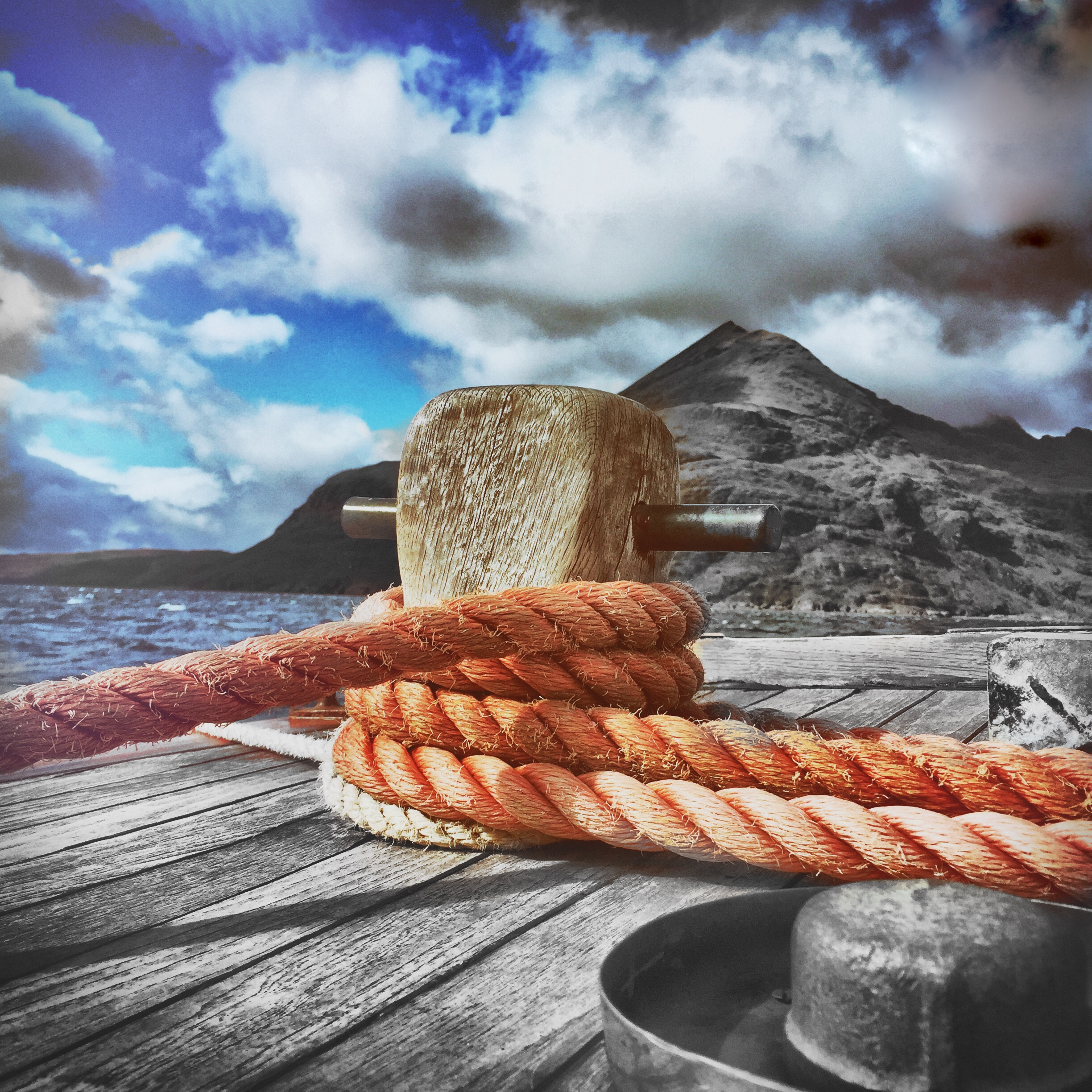 L57 Card: Rope on a Dock SALE (£2.00)