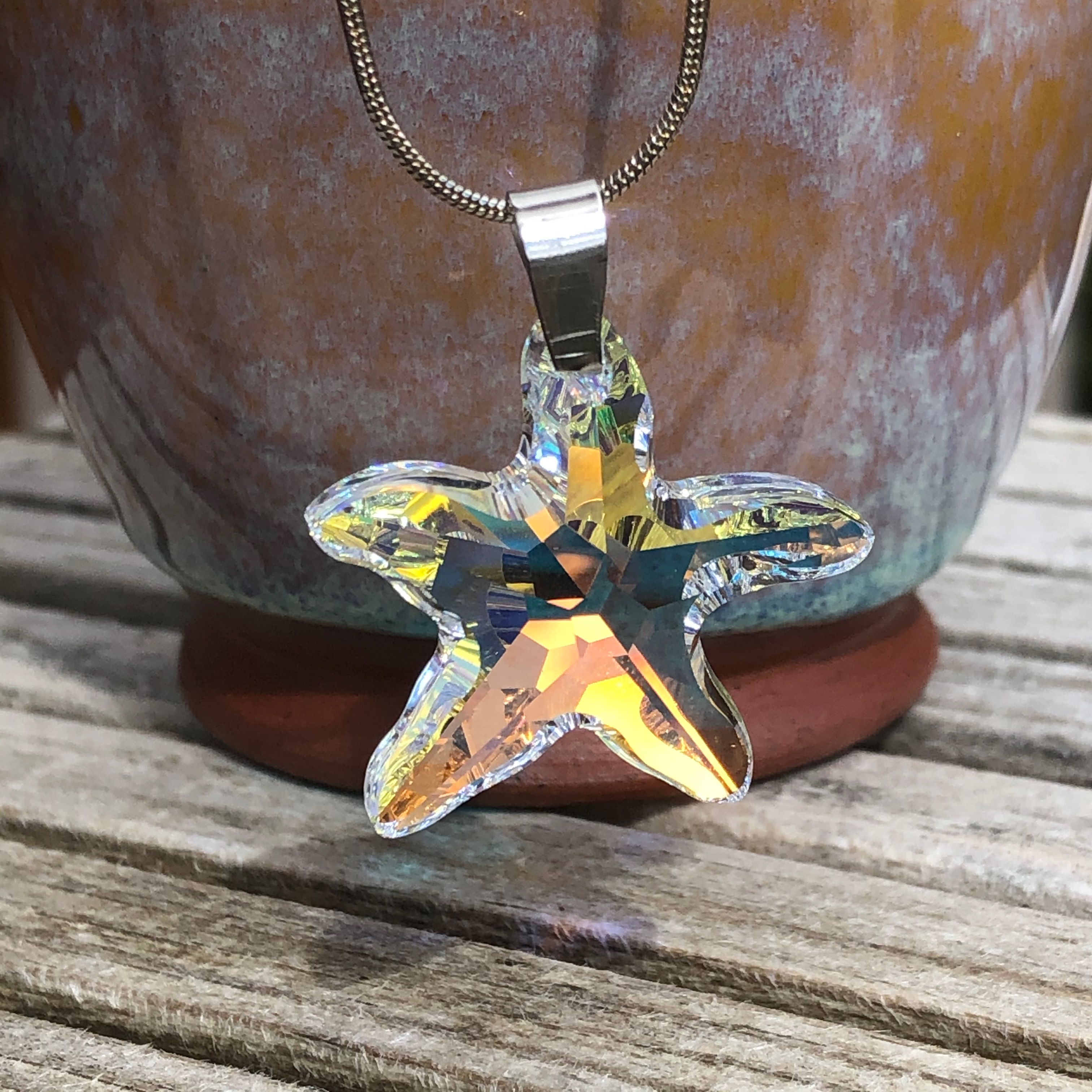 Necklace: Swarovski Starfish 28mm AB