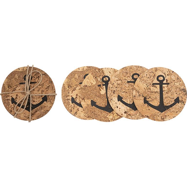Cork Anchor Coasters (Set of 6)