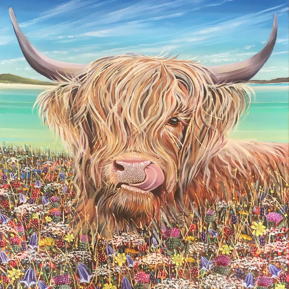 Hope Blamire Mounted Print: Machair Moorag