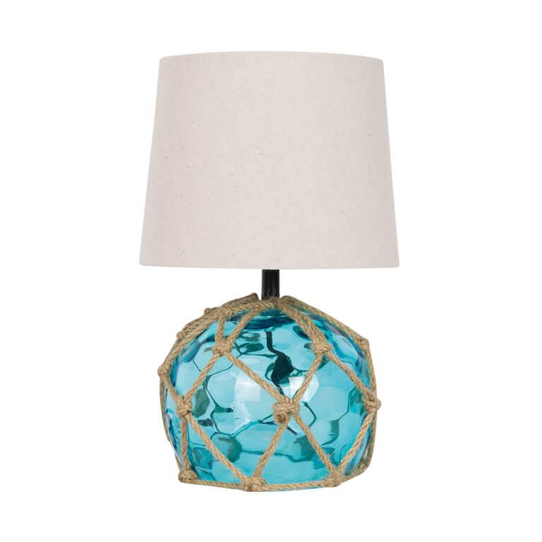 Glass Buoy Bedside Lamp Aqua