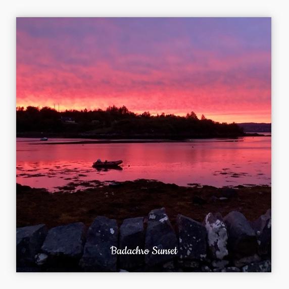 New Style  L57 Coaster: Badachro Sunset