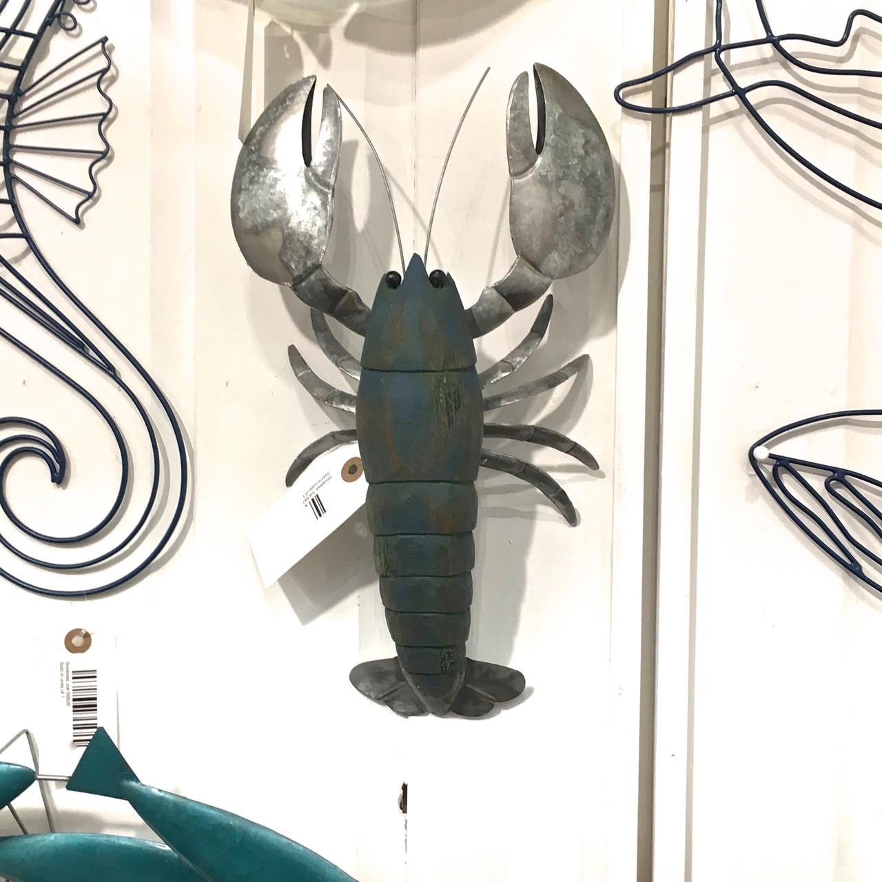 Leonard Lobster Wall Art 34x19cm
