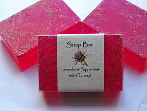 Soap Bar: Lavender & Peppermint with Oatmeal