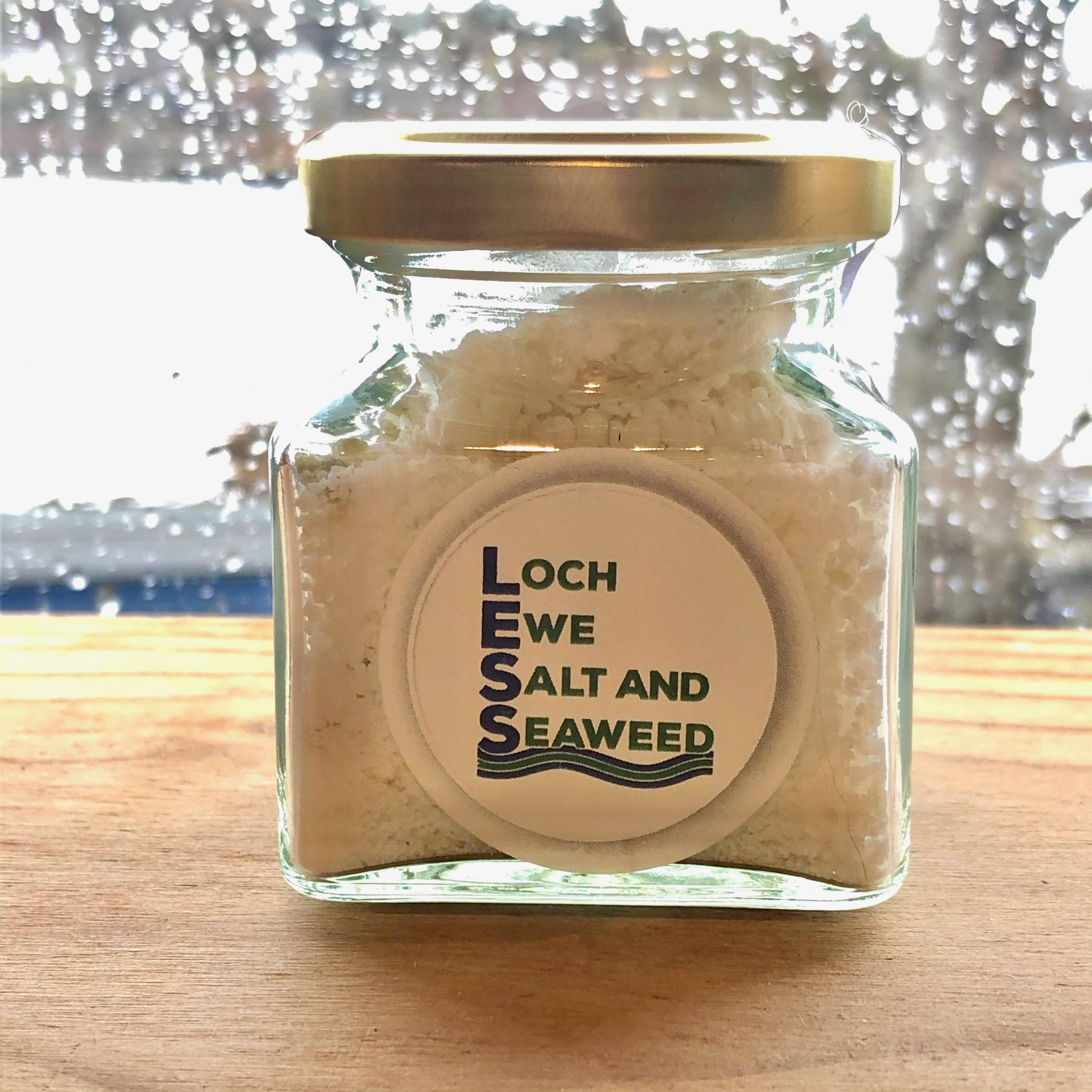Loch Ewe Sea Salt Jar 75g: Roast Garlic  Sea Salt