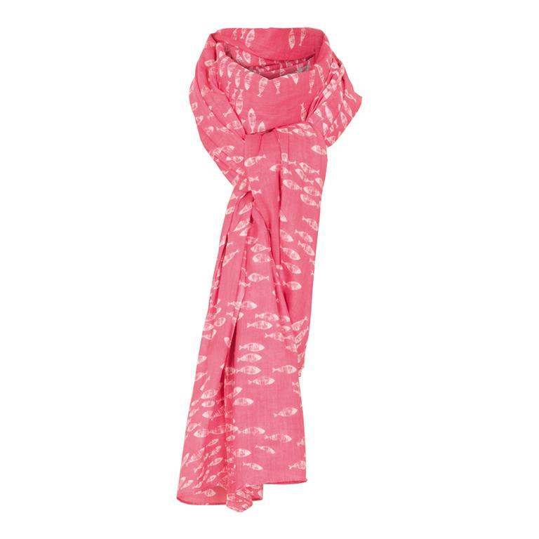 Scarf: Pink Fish Shoal