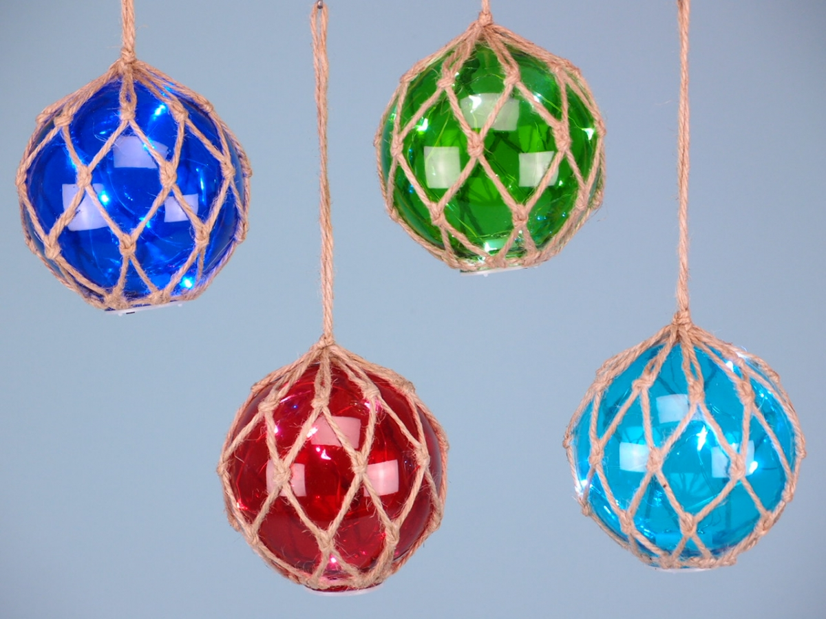 """Glass Float 4"""" with LED lights"""