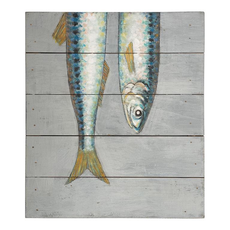 Sardine Painted on Wood