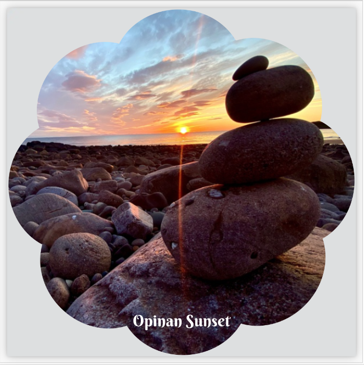 L57 Flower Shaped Coaster: Opinan Stone Stack