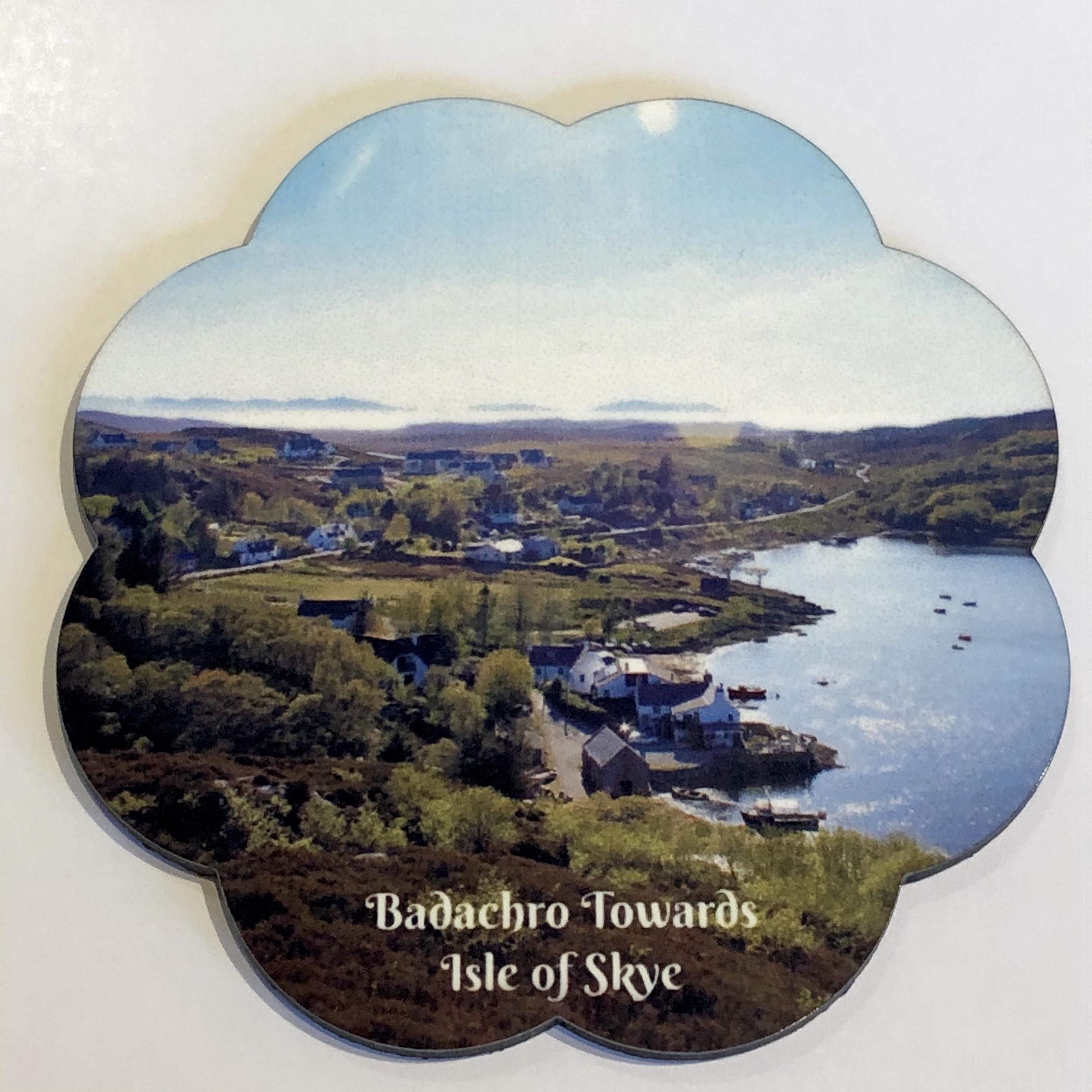 L57 Flower Shaped Coaster: Badachro Twd Skye