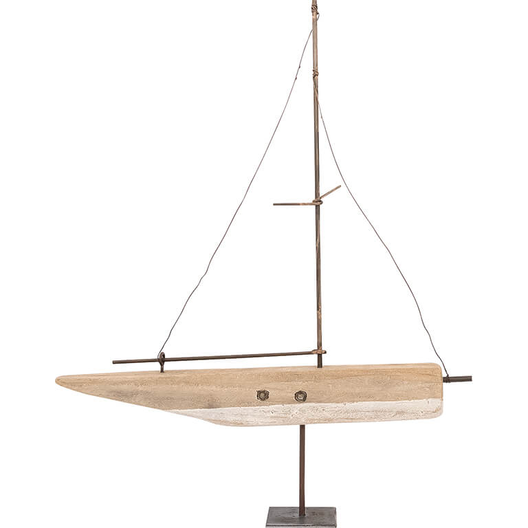 40cm Driftwood Yacht on Stand SALE 30% (£28.95)