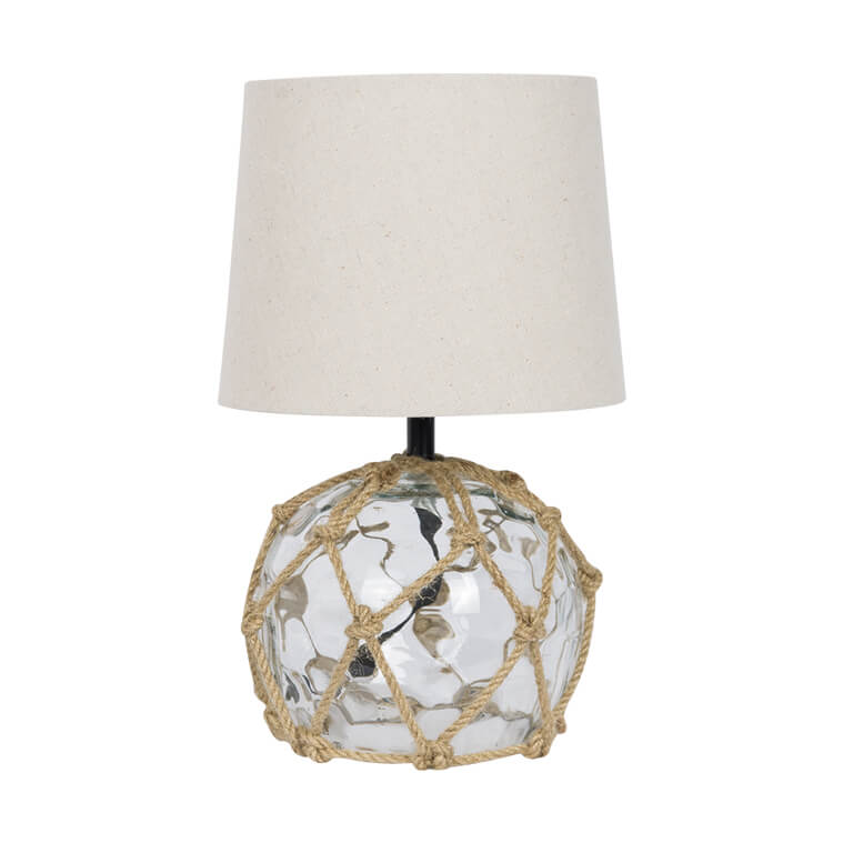 Glass Buoy Bedside Lamp Clear
