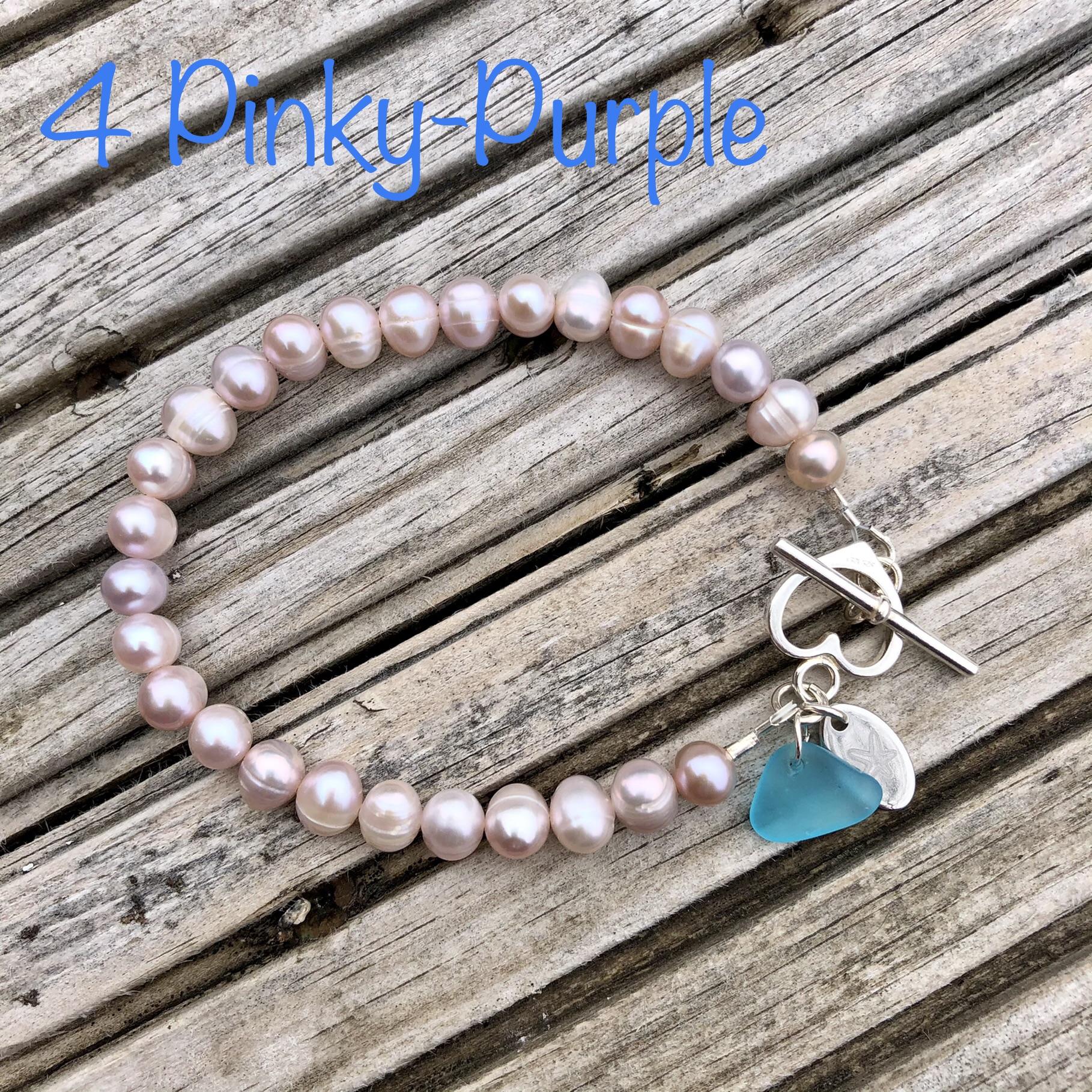 Freshwater Pearl Bracelet 4: Pinky-Purple SALE (£32)