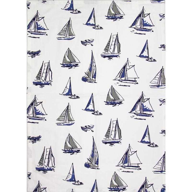 Tea Towel: Boats