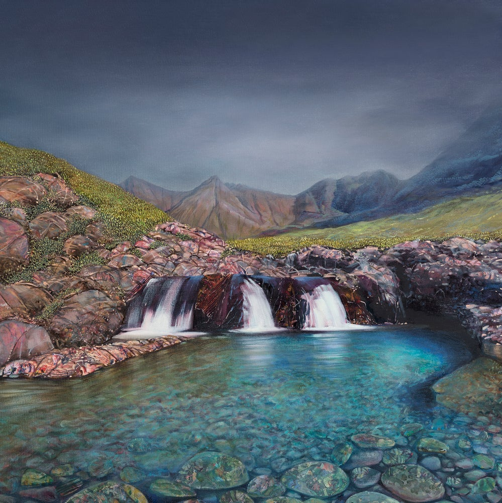 Hope Blamire Mounted Print: Fairy Pools, Skye