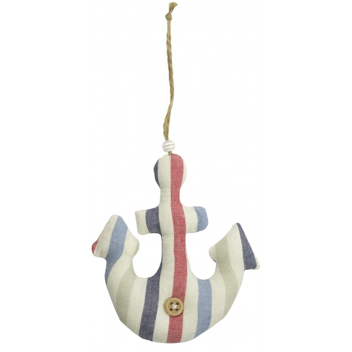 Fabric Anchor Hanging Décor 11cm SALE (£1.50)