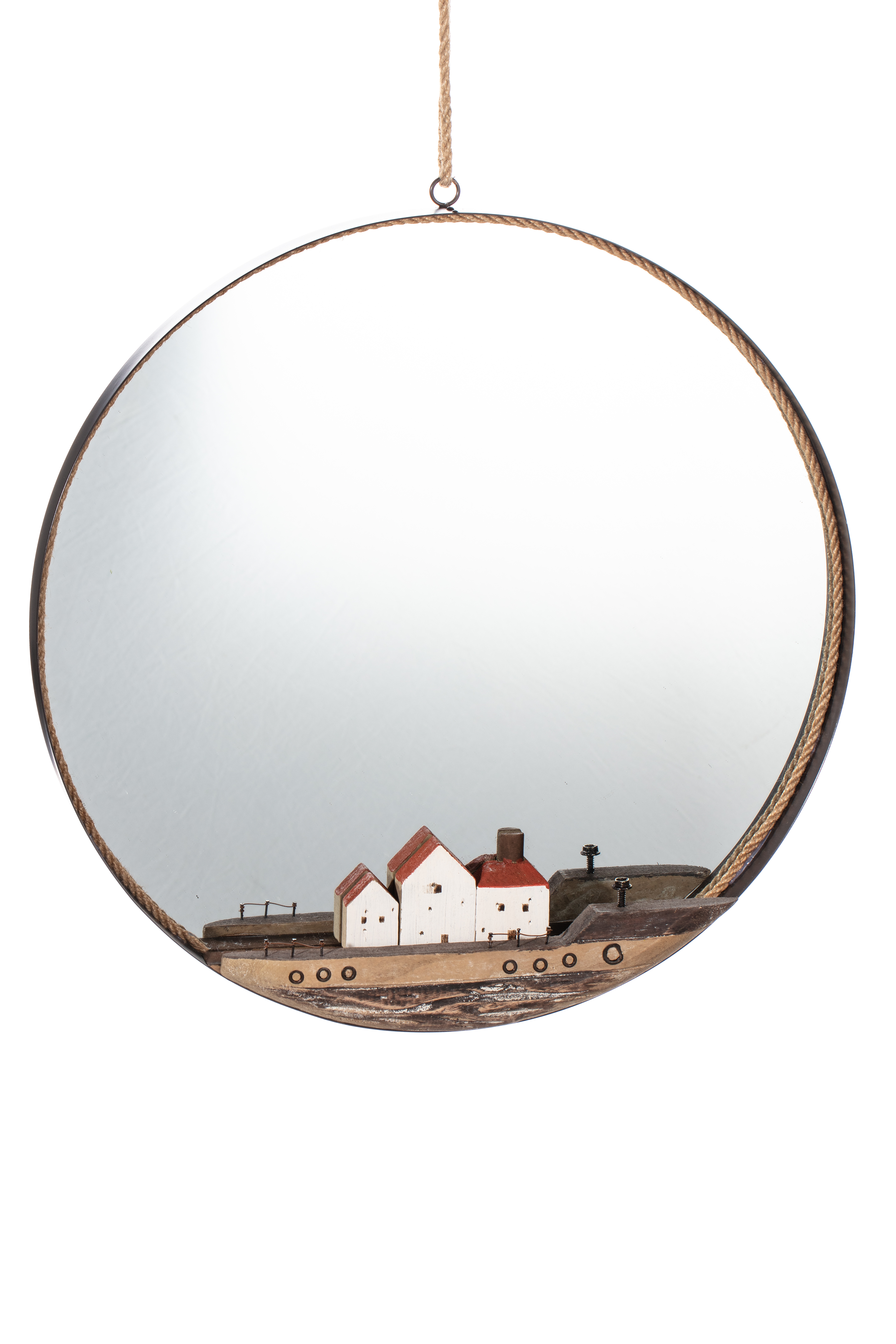 Mirror with Cottages
