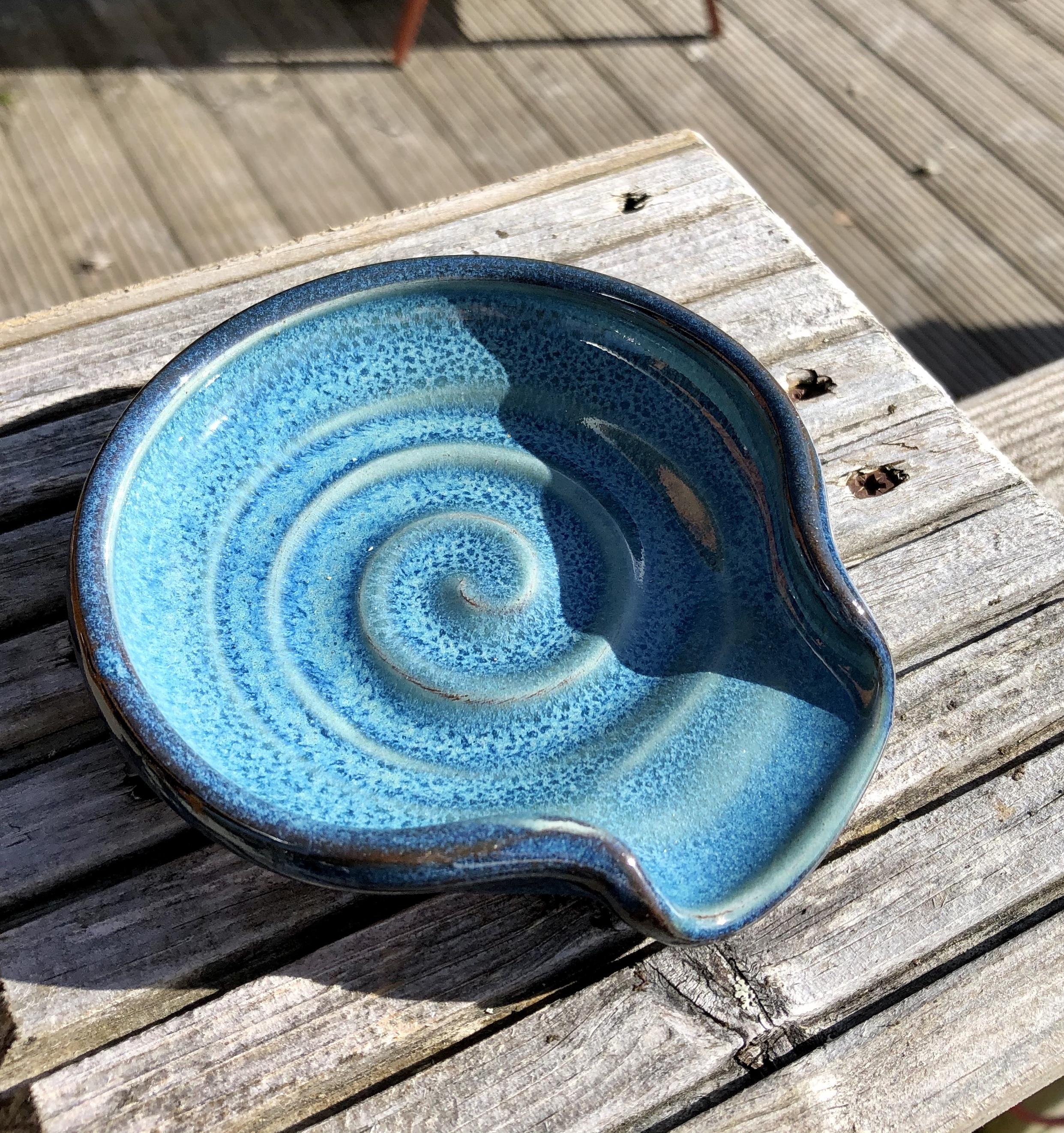 Rupert Blamire Spoon Rest: Aquamarine
