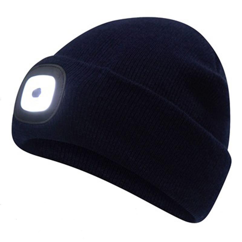 LED Beanie Hat - Black