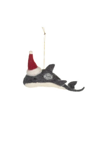 Xmas: Whale in Christmas Hat