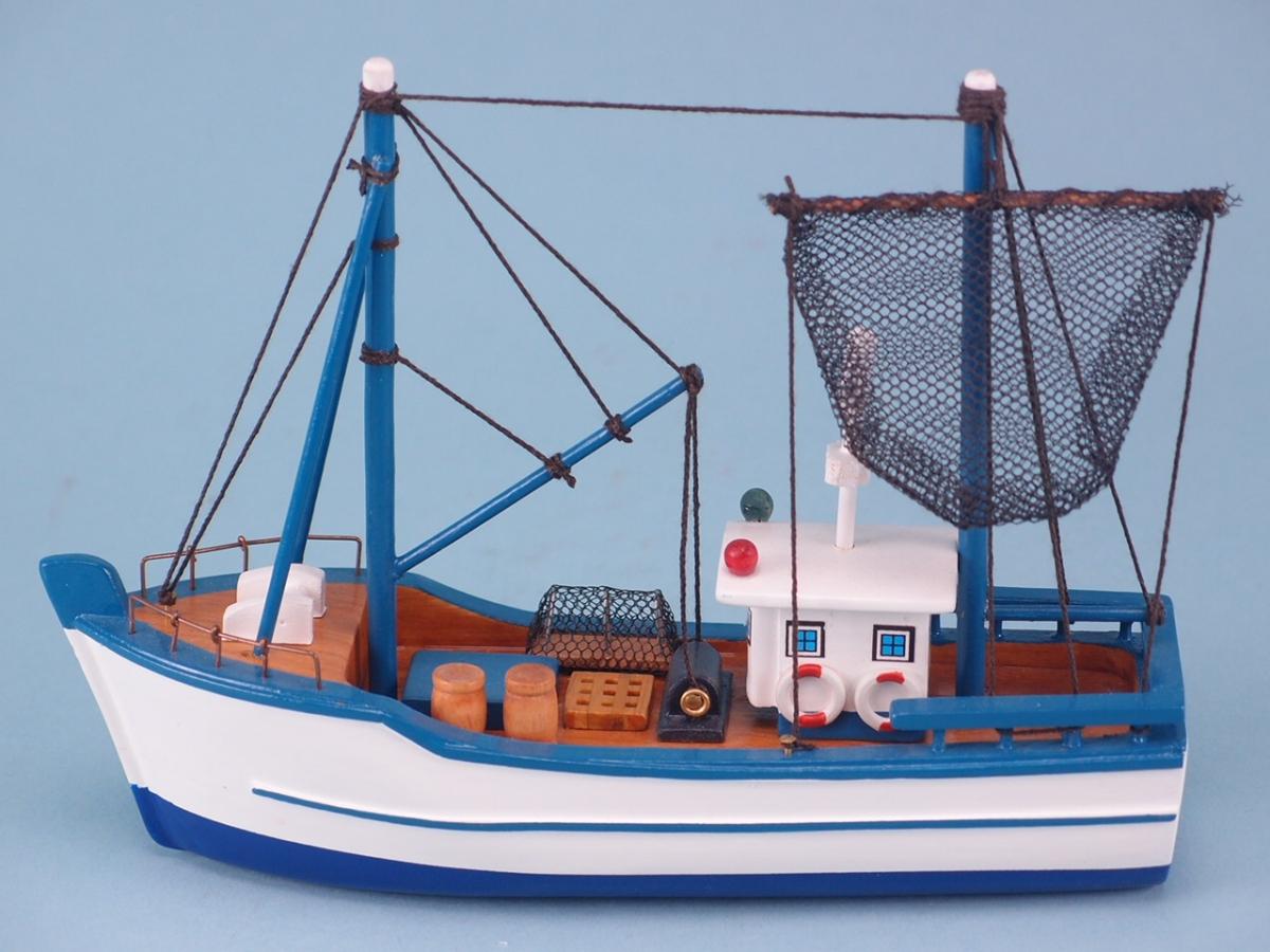 Flat Bottom Blue Trawler