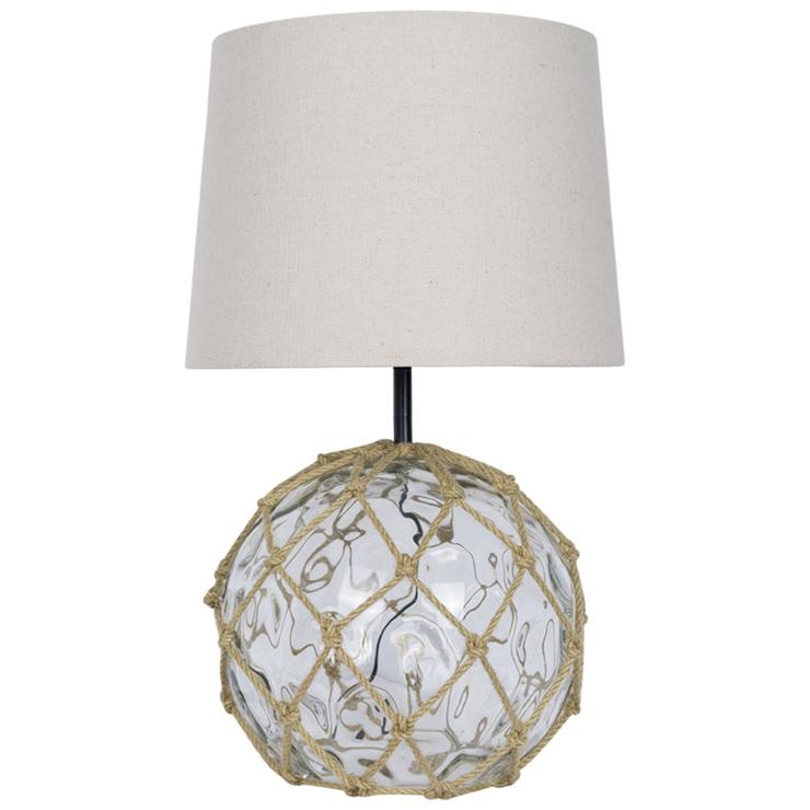 Glass Buoy Table Lamp Clear
