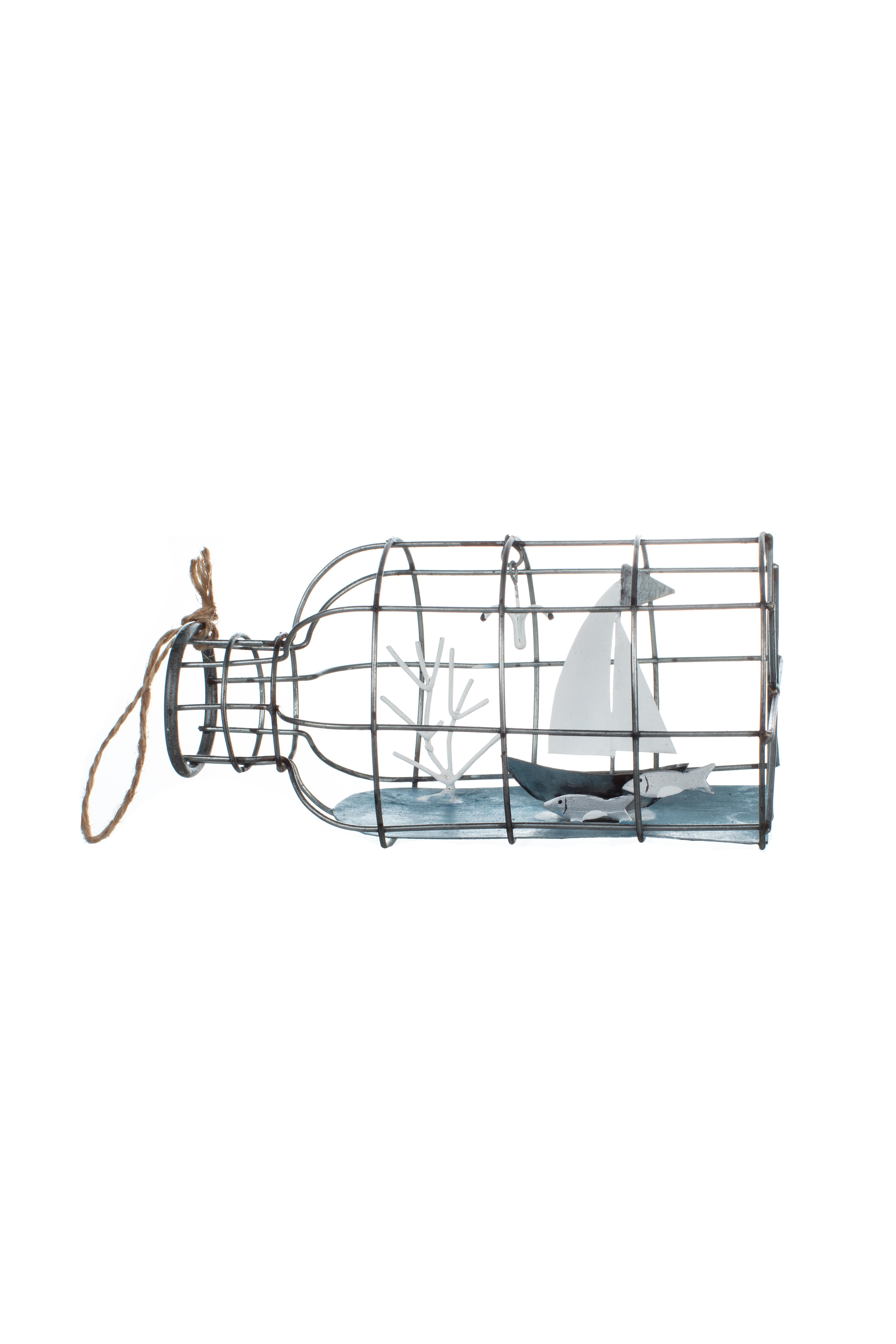 Boat in a Wire Bottle