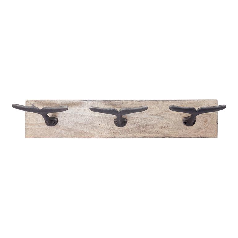 Coat Rack with Whale Tail Hooks