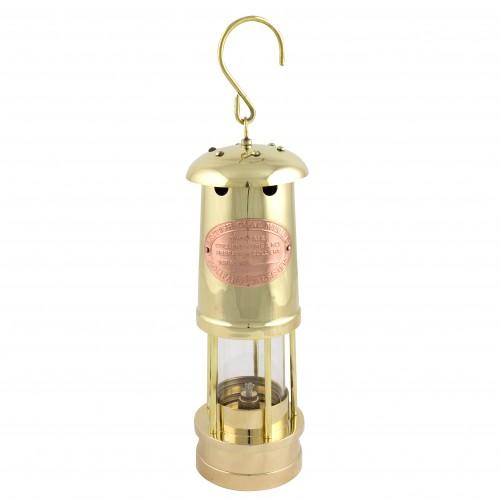Brass Miner's Oil Lamp