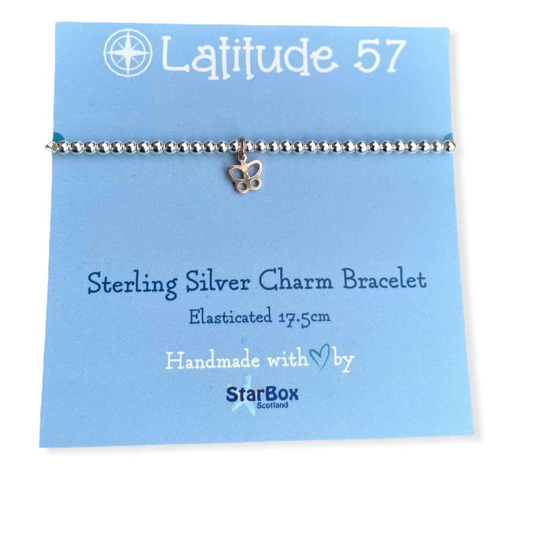 Sterling Silver Charm Bracelet: Butterfly OFFER (£19.95)