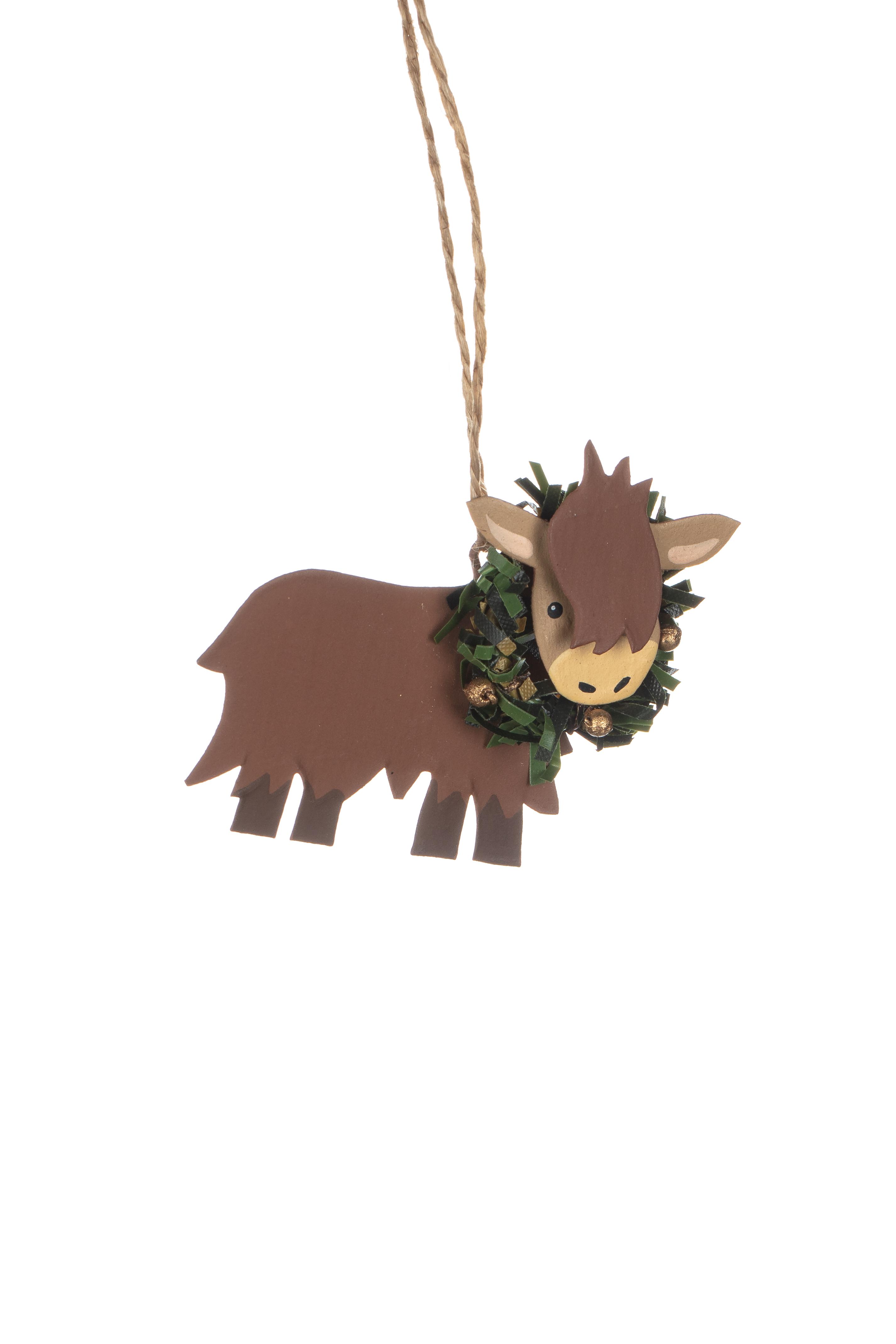 Xmas: Tin Highland Cow Baby