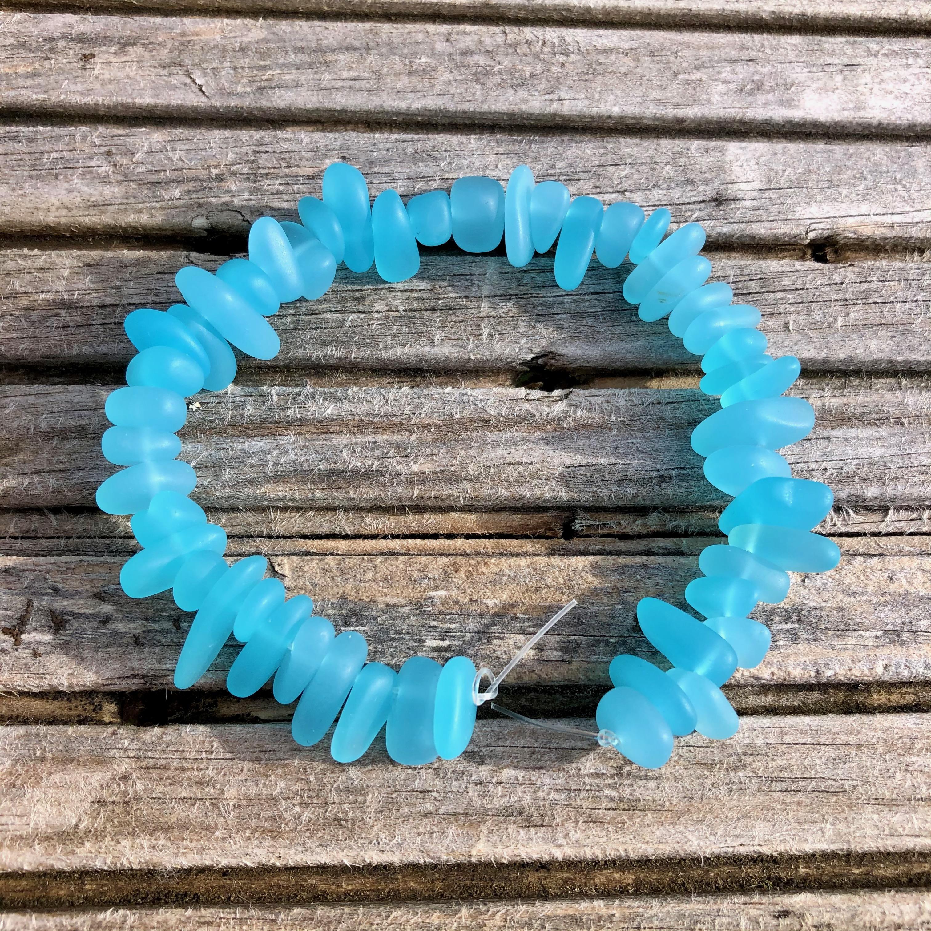 Sea Glass Pebble Beads - 11b Medium Turquoise Bay