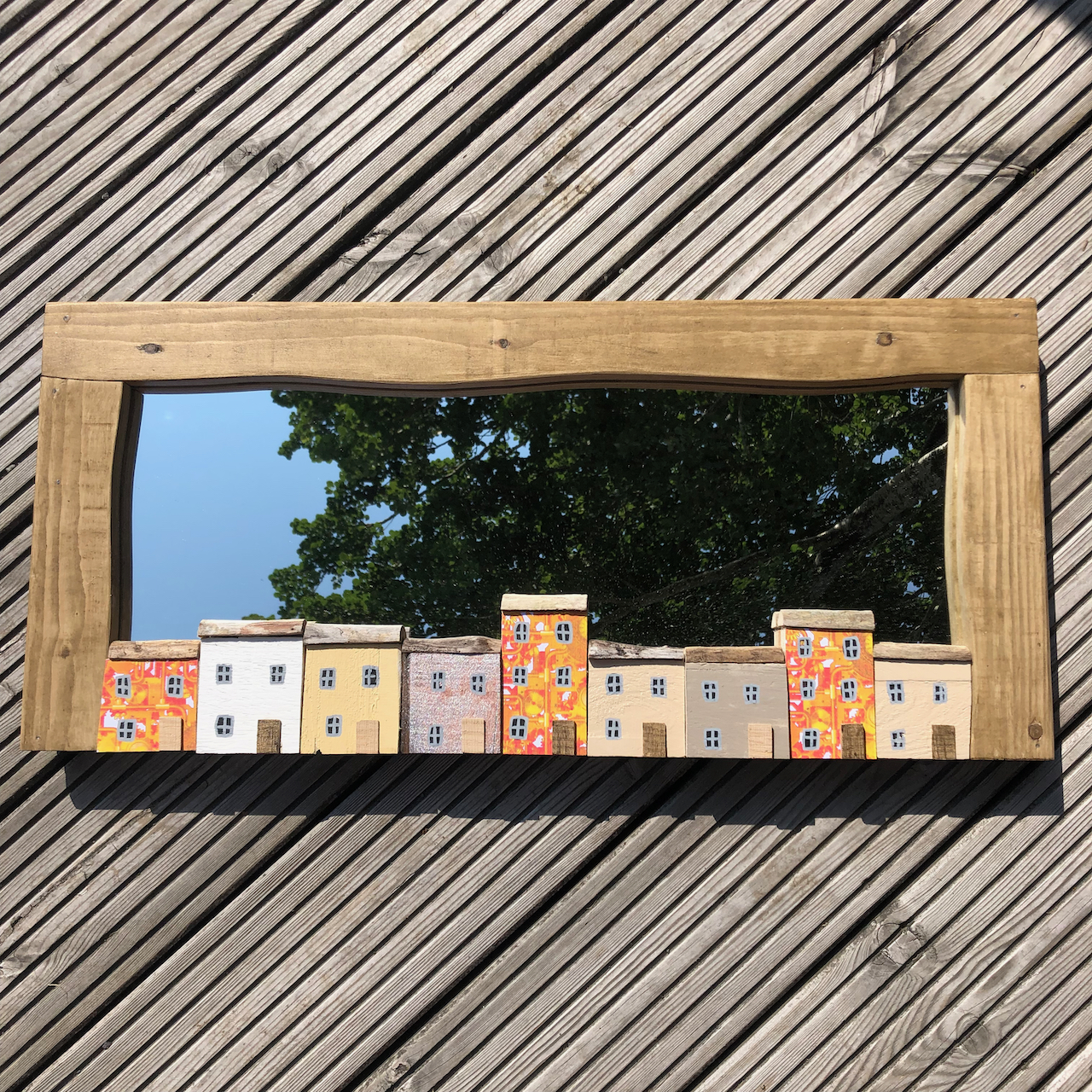 Handmade Driftwood Mirror 67x30cm