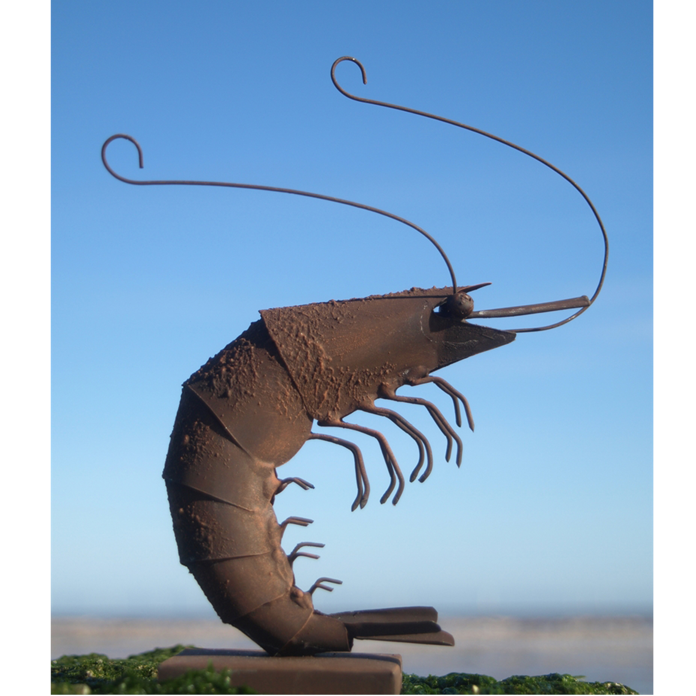 Percy the Prawn on stand