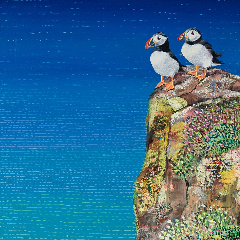 Hope Blamire Mounted Print: Huffin & Puffin