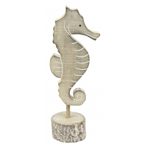 Wooden Seahorse on Stand 20cm SALE (£4.95)