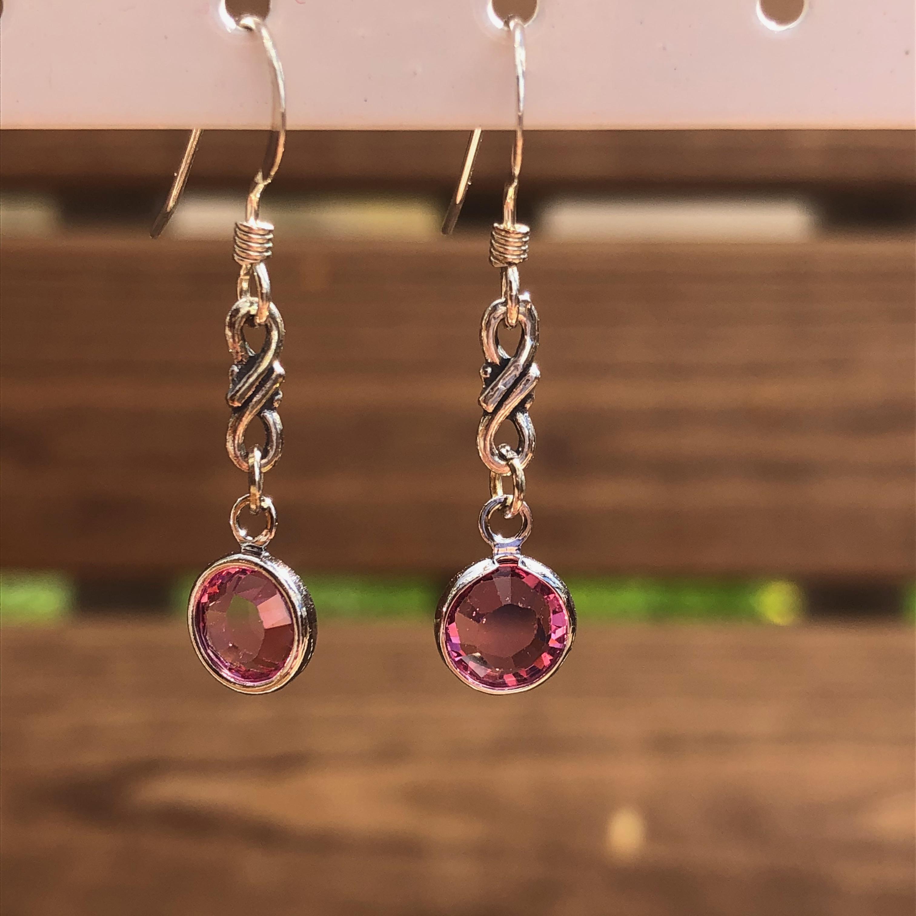 Earrings: Swarovski Channel Drop Twist