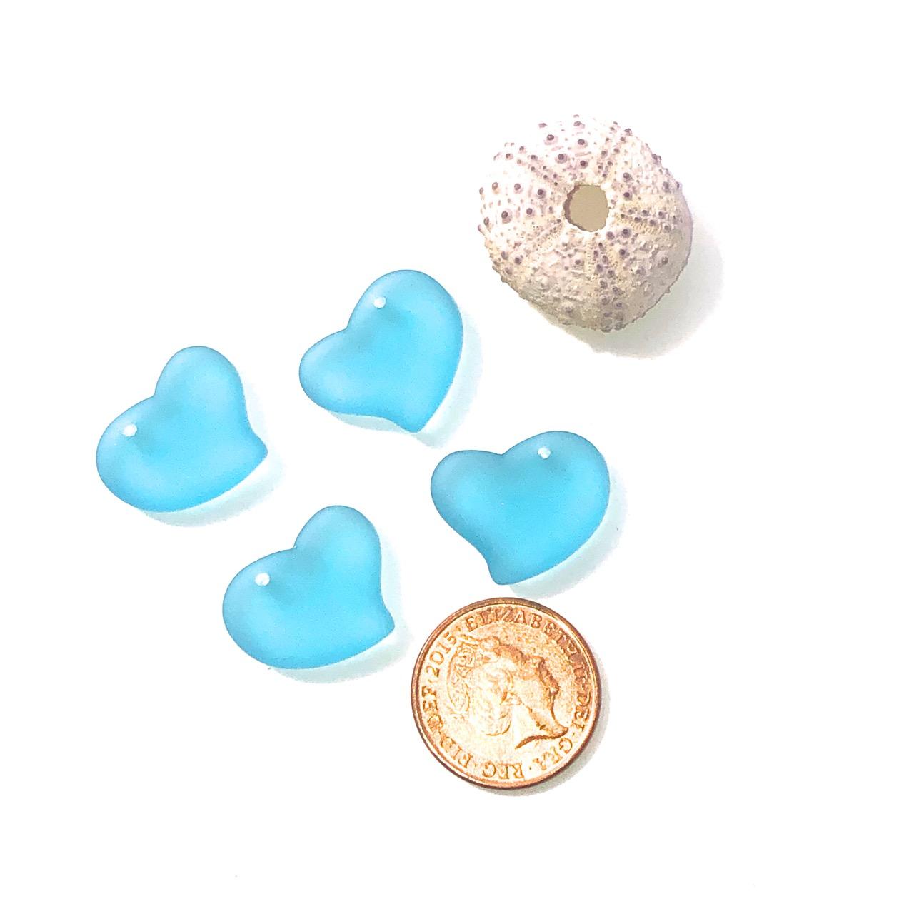 Sea Glass Heart - Turquoise Bay