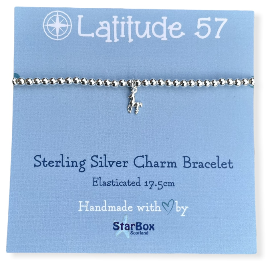 Sterling Silver Charm Bracelet: Tiny Horse OFFER (£19.95)