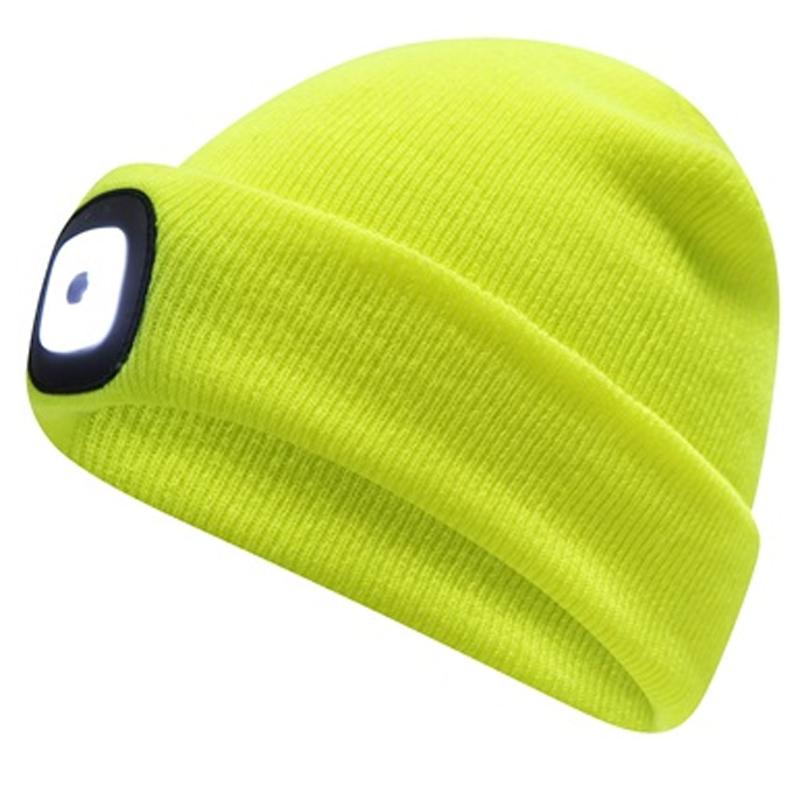 LED Beanie Hat - Yellow