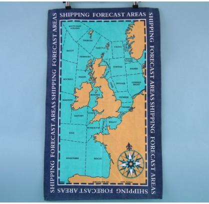 Tea Towel: UK Shipping Areas Galley Cloth