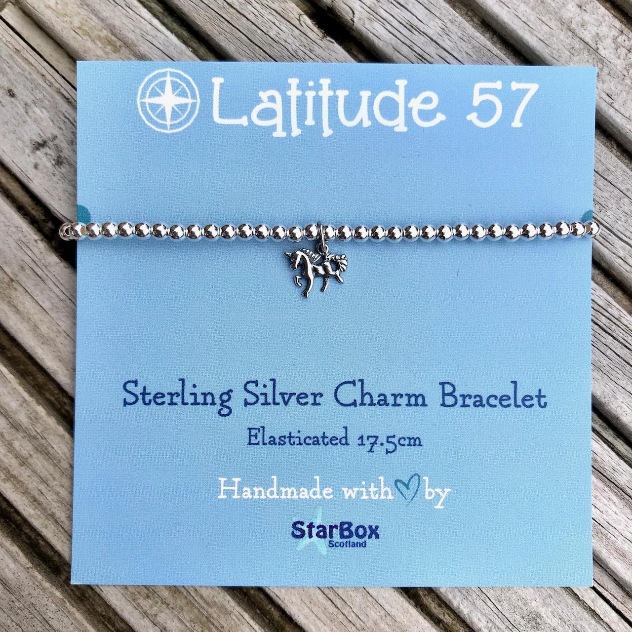 Sterling Silver Charm Bracelet: Unicorn OFFER (£19.95)