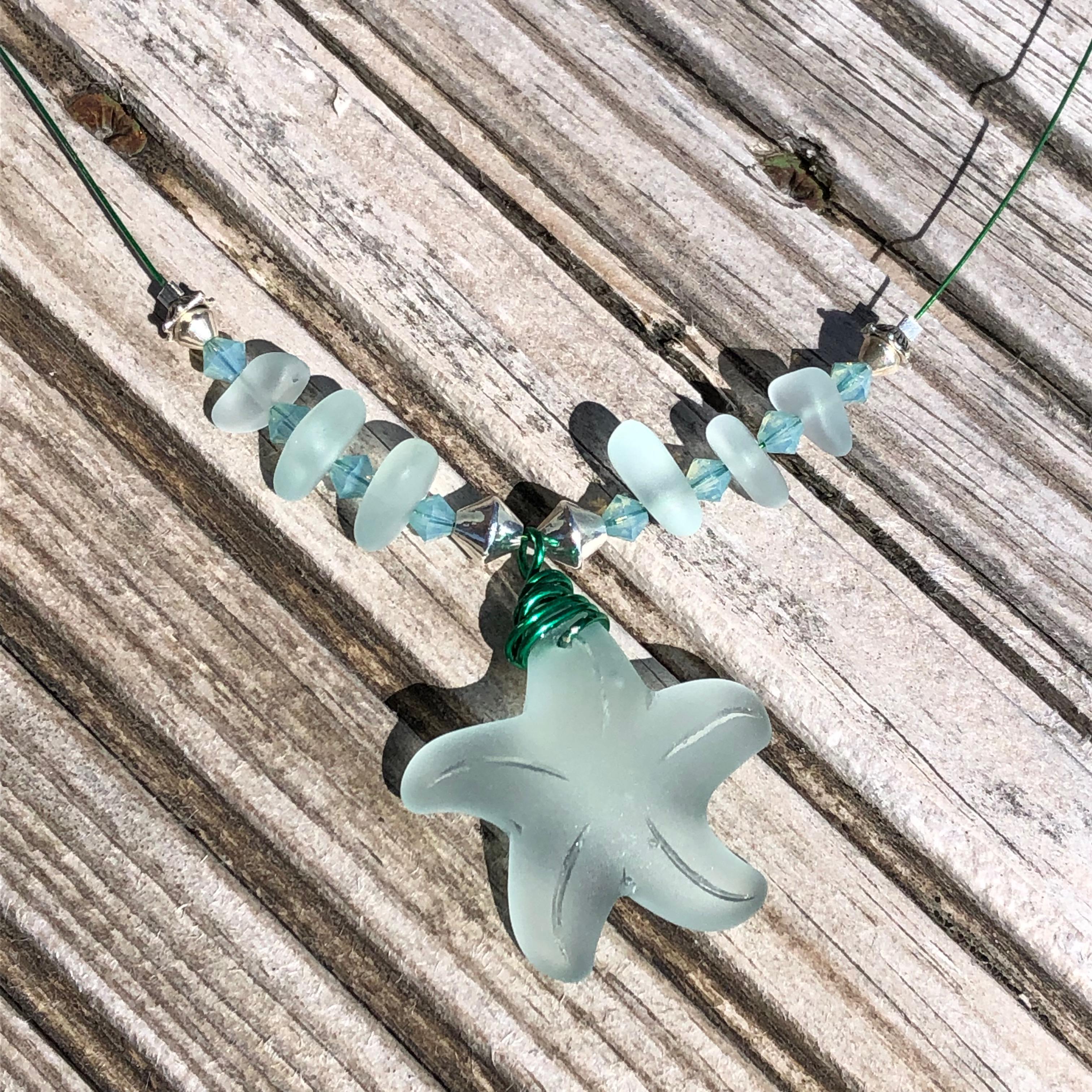 Starfish Necklace: Seafoam SALE 20% (£30)