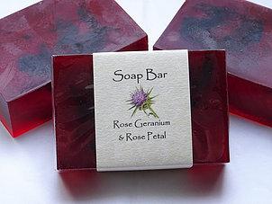 Soap Bar: Rose Geranium & Rose Petal