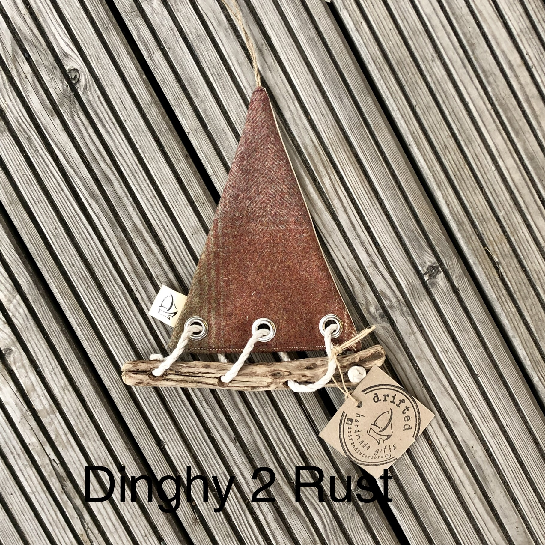 Handmade Driftwood Dinghy 2