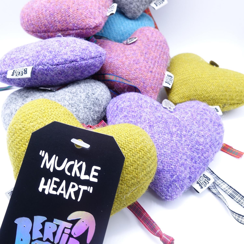 Harris Tweed Hanging 'Muckle' Heart