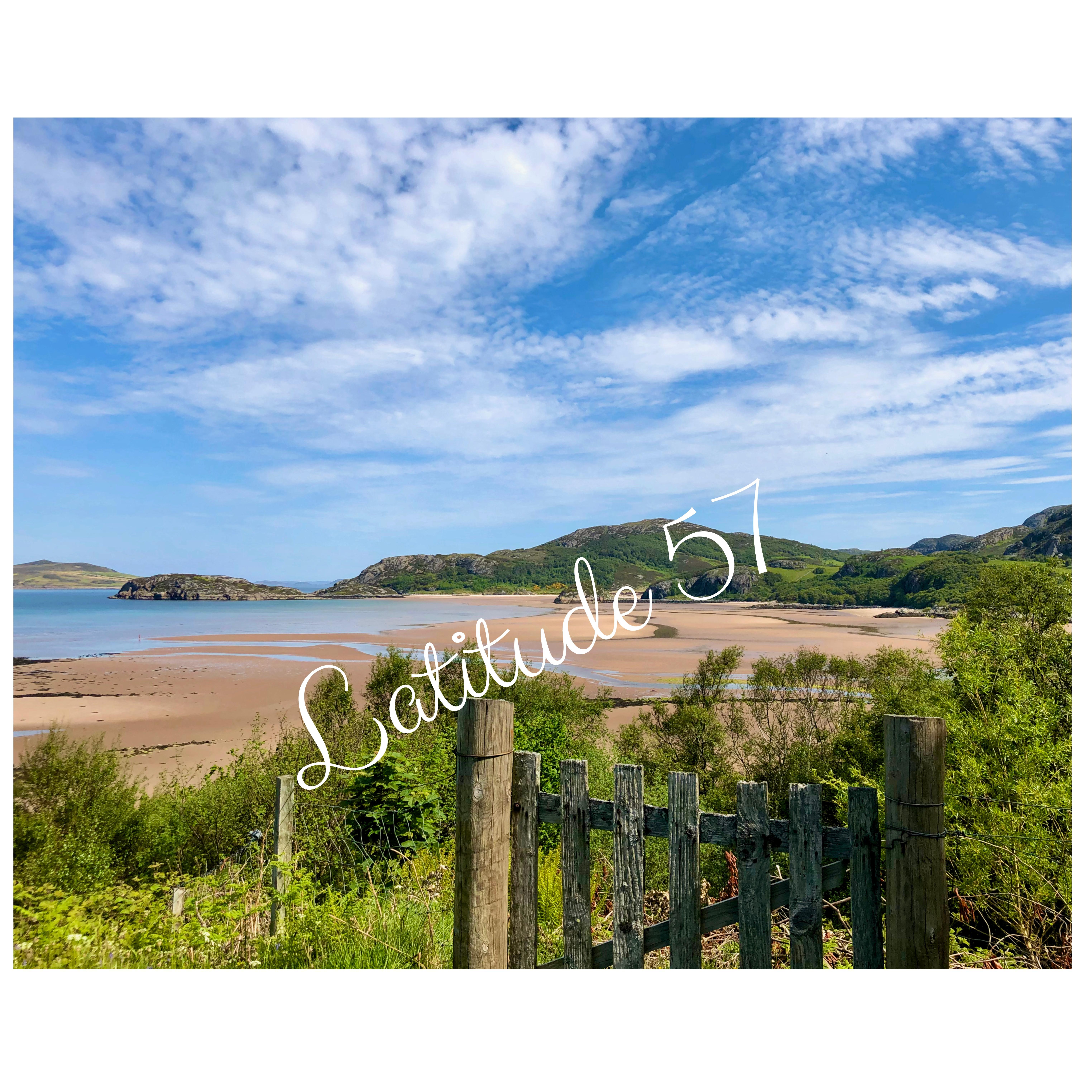 Mounted Print: Gruinard Beach with Gate