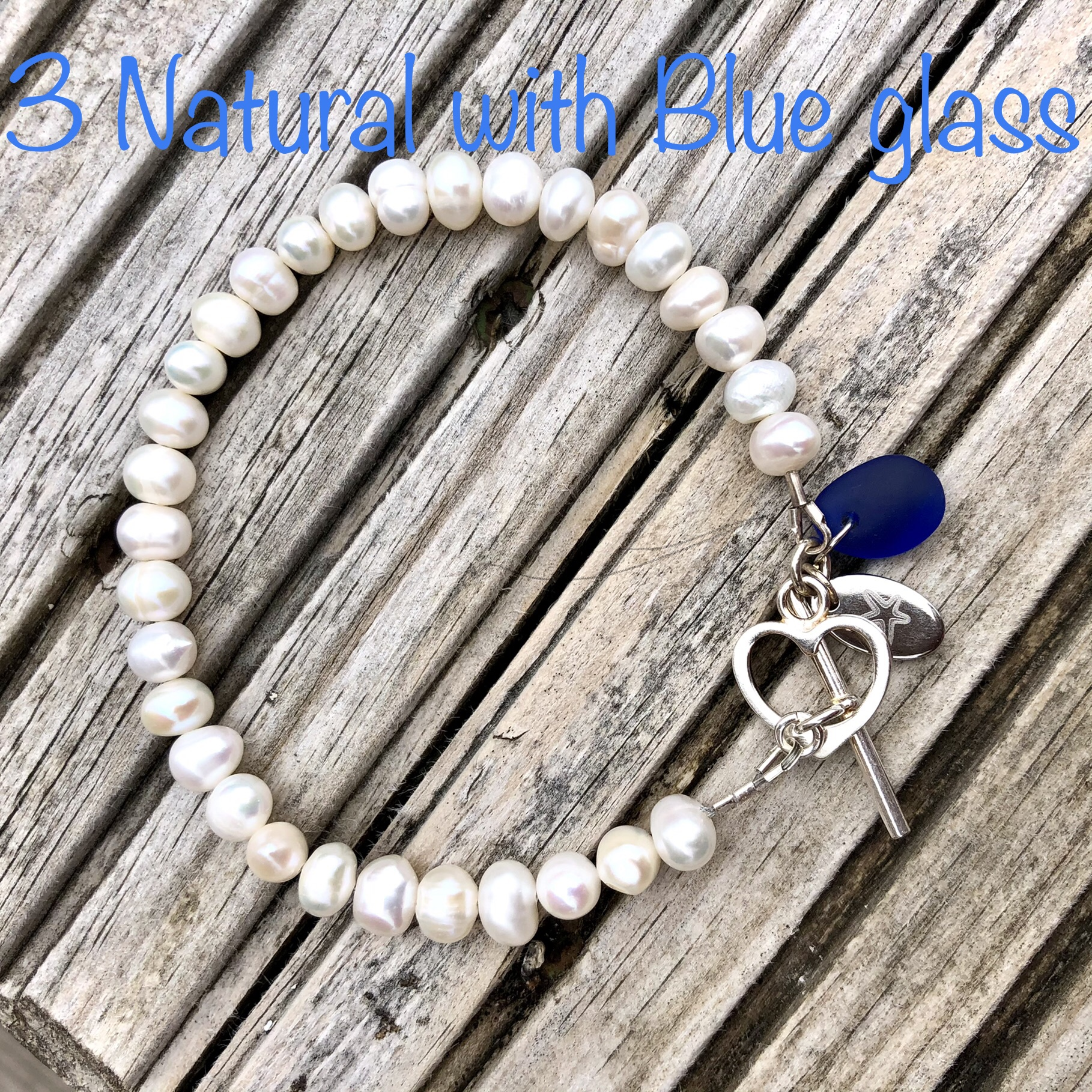 Freshwater Pearl Bracelet 3: Natural SALE (£32)